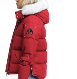 44c4a488339 Luxury Moose Down Jacket Winter Coat women Outerwear Knuckles Warm Down Coat  Slim Parkas Jacket Raccoon Fur Collar Hooded Down Jacket