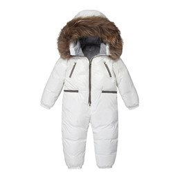 959080fcd -30 Russian Winter Snowsuit 2018 Boy Baby Jacket Duck Down Outdoor Rompers  Infant Clothes Girls Climbing for Boys Kids Jumpsuit