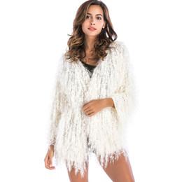 93b0f262dc3 Tassels Loose Sweater Coat Women 2018 Autumn WINTER Warm Outwear Christmas  Coat Top sexy party Female Long Sleeve Cardigan white