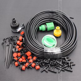 Drip System Hose NZ - DIY Automatic Micro Drip Irrigation System 15m 20m 25m 30m Plant Self Watering Nozzles Garden Hose Kits With Adjustable Dripper