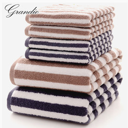 $enCountryForm.capitalKeyWord NZ - Wholesale-3 Pack 100% Cotton Towel Set for Adults 1 Piece Terry Bath Towel 2 Pieces Hand Face Towels Washcloths for Bathroom Yoga Swim Spa