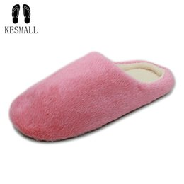 Home plusH slippers online shopping - 2018 Indoor House Slipper Soft Plush Cotton Cute Slippers Shoes Non Slip Floor Home Furry Slippers Women Shoes For Bedroom WS314