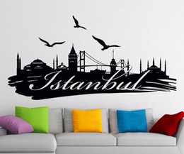 $enCountryForm.capitalKeyWord Australia - Removable wallpaper Turkey Famous Silhouette Scenery Word City Wall Stickers for room decor Color size can be customized r