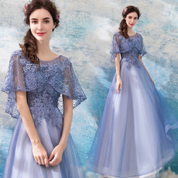 Vintage Lace Prom Dresses NZ - 2018 Beaded Lace Vintage Evening Dresses Sheer Neck A-line Tulle Prom Dresses Lace Up Cheap Bridesmaid Formal Party Gowns