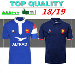 Chinese  New style 2018 2019 France Super Rugby Jerseys 18 19 France Shirts Rugby Maillot de Foot French BOLN Rugby shirt size S-3XL manufacturers