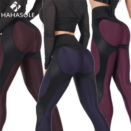 f1c24309b86af Women Sexy Shaping Hip Sports Yoga Pants Slim Fitness Tights Workout Gym  Athletic Trousers Running Patchwork Push Up Leggins