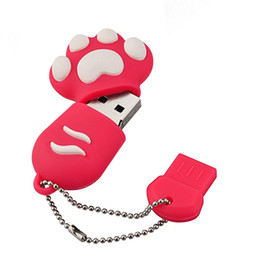 $enCountryForm.capitalKeyWord NZ - Bulk 10PCS Cartoon Cat Claw 2GB USB 2.0 Flash Drives Bear Claw Thumb Pen Drives Storage for PC Laptop Tablet USB Memory Stick Colorful