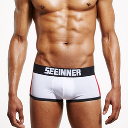 4dfcf1d07e34 Wholesale Free Shipping men cotton underwear boxers trunks sexy push up cup  bulge enhancing gay shorts enlarge underpants
