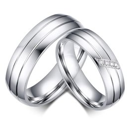 $enCountryForm.capitalKeyWord NZ - 2019 New Sterling Silver Jewelry Engrave Crystal Titanium Steel Couple Rings for Women Men Wedding Engagement Ring Unique Gift Jewelry