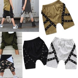 Discount hip hop clothing babies - Baby boys Hip-hop shorts 2018 summer INS children Casual shorts Boutique kids Clothing C4080