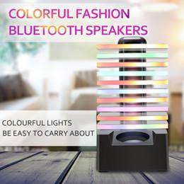 Discount q8 speaker New LED Lamp Bluetooth Speaker Q8 With EQ Colorful Light Dance Rhythmic lamp Speaker,Music Wireless Lamp Glass Subwoofer