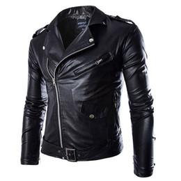 Lederjacke für Mann Mode Marke Mantel Männlich Biker Jacke Homme Jaqueta Couro Masculina Pu-leder Herren Punk Veste 2 Farben