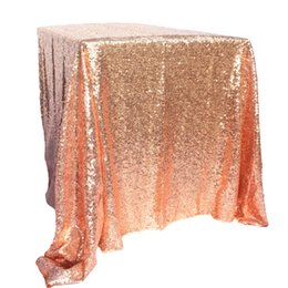 holiday gold UK - vent Party Holiday DIY Decorations 100x150cm Gold Sequin Tablecloth Rectangle Style For Wedding Party Banquet Wedding Table Cloth Decora...