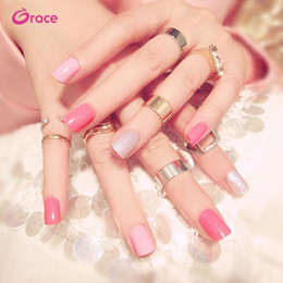 Nail Decorate Australia - B26 artifical false finger nail press on salon false nail tips decorated false nail lovely pink long