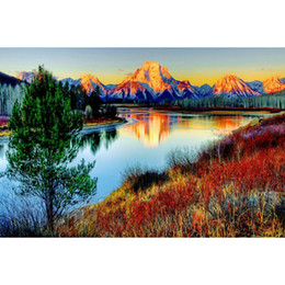 $enCountryForm.capitalKeyWord NZ - Landscape River Mountain 100% Full Drill Diamond Painting 5D Diamond Mosaic Cross Stitch Embroidery Handmade Home Decor (Free Shipping)