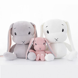 Doll Rabbit Long Ear Australia - Hot Sales Baby Plush Toys Cute Rabbit Long Ear Kids Stuffed Soft Dolls Children Gifts Infants Newborn Sleep Accompany Toys 50cm