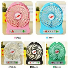 cooling desk for laptop 2018 - 100% Tested Rechargeable LED Light Fan Air Cooler Mini Desk USB 18650 Battery Rechargeable Fan With Retail Package for P