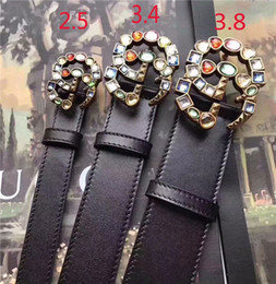 Belts Piece Canada - women luxury leather belt crystal smooth button men's high-quality leather business leisure leather belt 1 piece wholesale