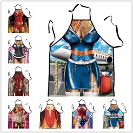 New Leather Coat Whip Stewardess Spoof Digital Print Sexy Apron Funny Birthday Gift Adult Props Creative