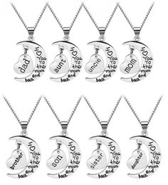 uncle jewelry 2019 - I Love You To The Moon And Back Necklace aunt mom dad grandpa sister son uncle family jewelry mother's day gift che