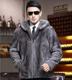 boutique men coat Canada - Men autumn winter Korean fashion new style of European and American boutique personality handsome trend hat fur grey coat  S-6XL