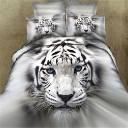 China 3D Tiger Animal Bedding Set Print Duvet Cover Bed Set Double Queen King Size 3 4PCS Bedclothes Comforter Bedding Sets pillowcase supplier tiger print bedding sets suppliers