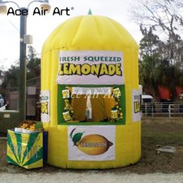 Portable inflatable lemonade booth stand,inflatable kiosk booth Beverage lenmon stall tent,vendor space for lemon drink tent promotion on Sale