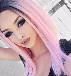 $enCountryForm.capitalKeyWord Australia - Black To Pink Ombre Virgin Peruvian Hair 3 Bundles 8A Two Tone 1B Pink Straight Ombre Human Hair Weaves Extensions