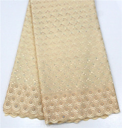 Lace For Cotton NZ - DOT1017 2018 Embroidery Cotton Swiss Lace Fabric High Quality Cotton Swiss African Lace For Party With Stones Nigerian Dry Lace