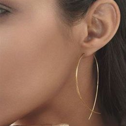 $enCountryForm.capitalKeyWord Canada - Simple Fashion Fish Hoop Earrings Woemn 2018 Geometry Copper Earring Female Classic Brincos De Gota Feminino Earring Bijoux