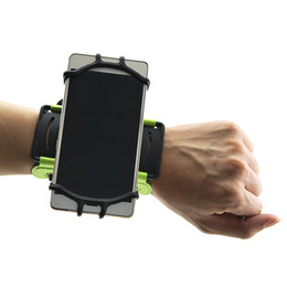 iphone cycling Australia - Gym Cycling Running Fitness Sports 180 Degree Rotatable Forearm Wristband Phone Holder for IPhone For Android