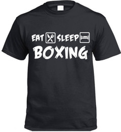 China Eat Sleep Boxing T-Shirt Funny Gift Boxers Present supplier box eat suppliers