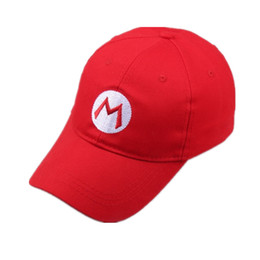 $enCountryForm.capitalKeyWord Australia - 2019 New Super Mario Bros Adult Kids Costume Hat Anime Cosplay Red Mario Cap Letter Adjustable Casual Unisex Baseball Caps