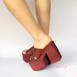 $enCountryForm.capitalKeyWord Canada - Princess sweet lolita shoes loliloli yoyo Japanese design custom large-size wine-red genuine leather high-heeled slippers 7523