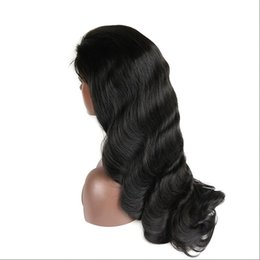 $enCountryForm.capitalKeyWord Australia - Brazilian Full Lace Human Hair Wigs Body Wave Pre Plucked Lace Wigs For Brazilian Black Women Shipp by ePacket 1B Color