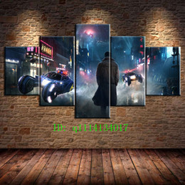 Blade Oil NZ - Blade Runner Fantasy,5 Pieces Canvas Prints Wall Art Oil Painting Home Decor  (Unframed Framed)