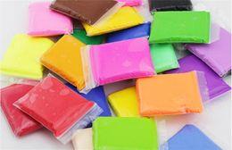 Fluffy Super Light Floam Slime pour enfants Mastic à la main solide jeu Clay No Smell Stress Relief Kids Clay Toy 24 couleurs en Solde