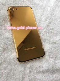 Iphone Real Gold Australia - real gold plated housing Phone back Case For iPhone 7 Plus SE Shockproof PC Back Covers Shell Protective Housing case For iPhone 7 7 Plus