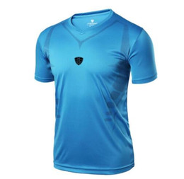 Quick Dry Shirts For Men NZ - 2018 Brand T-Shirts For Men Summer Tops Slim Fit Shirt Short-sleeve Quick Dry men's shirts Soccer Jerseys Clothing Sportswear