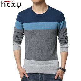 Best Brand Pullovers NZ - HCXY 2017 new Spring and Autumn sweaters men best style O neck mens sweaters brand jersey pullover male 5XL knitwear dress