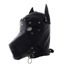 costumes fetish play NZ - Faux Leather Fetish Pet Play Dog Hood Adult Women Slave Trainer Leather Puppy Mask with Eye Patch and Mouth Zipper Costume sexy