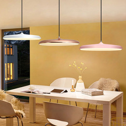 $enCountryForm.capitalKeyWord Canada - Hot LED Modern Lamp Denmark Mini Pendant Lamp Bedroom Lamp Office Living Room Lamps Light Fitting Chandelier Frisbee UFO