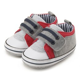 Wholesale Canvas High Shoes Australia - High Quality Newborn Baby Mocassins Infant Kids Boy Soft Sole Breathable Patch Canvas Sneaker Toddler Shoes 0-18M