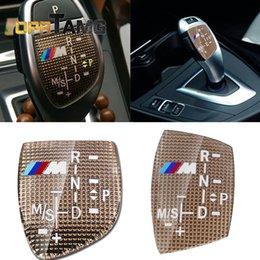 bmw m3 stickers 2019 - Fashion New M logo Gear Shift Knob Sticker Cover For BMW X1 X3 X5 X6 M3 M5 325i 328 F30 F35 F18 GT 3 5 6 7 Series car ac
