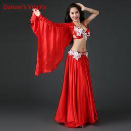 $enCountryForm.capitalKeyWord Australia - Lady Women Belly Indian Oriental Dance Single Sleeve Sling Bra Diamond Skirt Suit Competition Practice Costume Rumba Dancewear Outfits