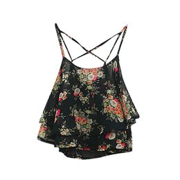 0459f4b0561 good quality Summer Floral Printed Vest Top Women 2018 Sleeveless Casual  Tank Blouse Tops T-Shirt Sexy Camisole Shirt Tees LT10