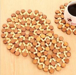 $enCountryForm.capitalKeyWord Australia - 2 Size Round Bamboo Coaster Coffee Tea Mug Hollow Mat Pads - Kitchen Heat Insulation Table Pot Bowl Plate Coasters