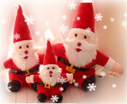 stuffed plush santa Canada - Cute New Year Merry Christmas Decorations Ornaments Santa Claus Snowman Dolls Plush Doll Stuffed Cartoon Animals Toys