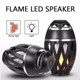 Light seaLs online shopping - LED Fire Flame Bluetooth Speaker Lamp LED Flash Light Atmosphere Portable Wireless Stereo HIFI Speakers Outdoor Traveling Camping i3