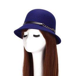 Nuevo 2017 Otoño Invierno Lana Felt Chapeau Homme Mujer Sombreros Sombreros  de Moda Señoras Accesorios Bucket Sombrero Sombreros Para Mujeres 52090853794b
